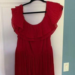 H&M Dresses - H&M Red Pleated Off the Shoulder Dress NWT